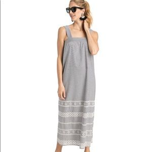 Vineyard Vines Striped Embroidered Maxi Dress